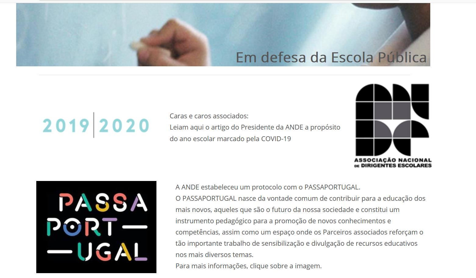 ANDE ASSOCIAÇÃO NACIONAL DE DIRIGENTES ESCOLARES